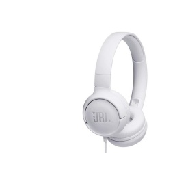 AURICULAR JBL T500 ON-EAR WIRED WHITE